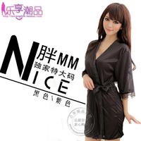 Free Shipping Sexy Women Ladies Open Front Solid Lingerie Set Robe Underwear Pyjamas Nightwear Soft Sleepwear Tong 2 Colors