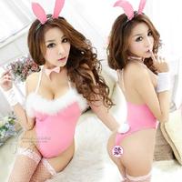 Sexy temptation set tight women's uniforms one piece lady 5099 rabbit