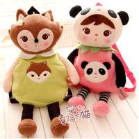 Free shipping metoo children sweet cartoon kindergarten kids school backpack girl shoulder bag plush doll toy baby gift 1 pc