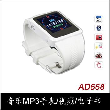 2013 мода спортивные часы ad668 музыка часы mp3mp4 часы fm радио