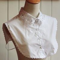 2014 All match white elegant embroidered shirt blouse collar false detachable collar necktie dropshipping