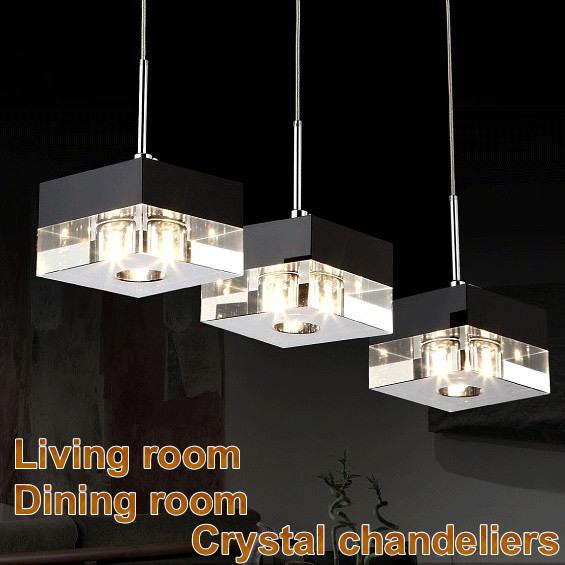 Led cristal moderne lustre 220 v luminaires lustre cristal for Lustre moderne salle a manger