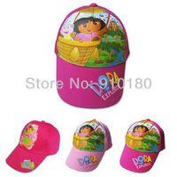 Wholesale 5pcs/lot Baby Cartoon Dora baseball cap Summer beret hat children's hat