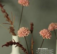 Pink and white 45 cm 60cm 90cm flower stem Natural dry decorative flowers simulation flower rural false Freeshipping