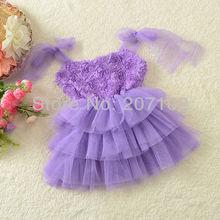 wholesale silk flower girl dress