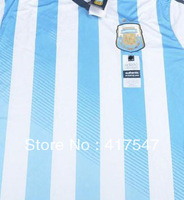 Hot Sell,2014 World Cup Argentina Home Adizero Player Version, Best Thai Quality Soccer Jerseys Football Shirt