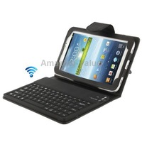 Bluetooth 3.0 keyboard leather protective case with holder for Samsung galaxy tab 3 p3200 p3210 7.0 inch