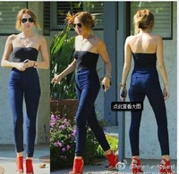 Drop Shipping 2014 New Women Fashion Brand Stretch High Waist Denim Jeans Pants Skinny Pencil Pants