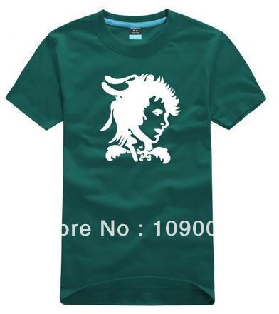Wholesale Women's or Men's Casual plus size XS S - 3XL 4XL O-neck Short sleeve T-shirt rock shirts-David Bowie 110(China (Mainland))