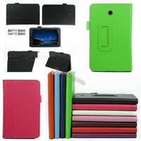 "2014 New Arrivaled Folding Folio Leather Case Cover Protection Skin+Stylus Pen for 7"" Dell Venue 7 Android Tablet Free Shipping"