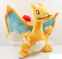 "Plush toys Pokemon Charizard 10"" poke dolls pocket monsters Cuddly gifts baby dolls Stuffed anime toys Fire Dragon 5pcs/lot"