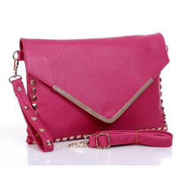 Hot Bags 2013 female women's handbag fashion vintage rivet envelope bag day clutch shoulder bag laptop