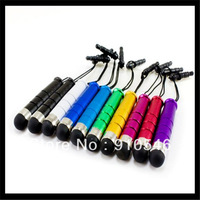 Factory Direct 20000pcs/lot Mini Shiny Bullet Stylus Touch Pens Capatitive pens for Tablet PC Mobilephone Free Shipping