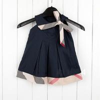 Free Shipping Baby Girl Dress 2014 Kids Plaid Summer Dress Girls Valentine Dress Princess Baby Dress Sleeveless Retail