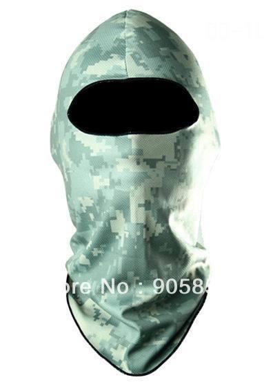 Balaclava ACU Bicycle Ski Hat Scarf Balaclava UV Protection Winter Full Face Mask free shipping(China (Mainland))