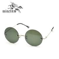 Round box vintage sunglasses female round glasses vintage sunglasses mirror circle frame