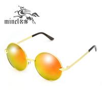 2013 fashion vintage big circle sun glasses sunglasses star style big box prince's mirror sun glasses
