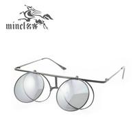 Steam punk flip sunglasses fashion vintage sunglasses male Women personality double layer glasses