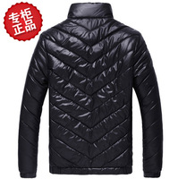 Fashion men's clothing stand collar wadded jacket autumn and winter slim outerwear men's cotton-padded jacket Free shipping