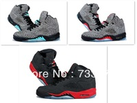 Good quality cheap 3Color retro 5 V 3LAB5 Elephant print Leopard Black/Red j5 basketball shoes