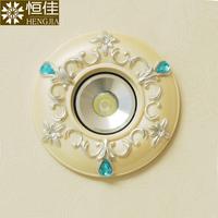 Fashion crystal led small spot light background wall living room ceiling light 8 bull's-eye lights lamp