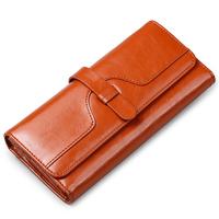 New Arrival 2014 Genuine Leather Wallet  Women's Big Capacity Long Wallet Retro Purse Clutch Bag V8006