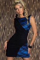 2014 New arrive women's lace sexy slim patchwork clubwear mini novelty dress femal bandage party dress blue pink free shipping