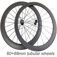 Super light wheel fit shimano 11S  60mm front 88mm rear tubular  wheels 700c Carbon fiber road bike Racing wheelset