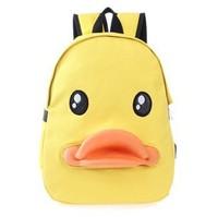 new fashion women backpack and children backpacks kids school bags children cartoon bag cute yellow backpack
