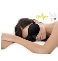 Free Shipping 3D sponge eye mask bindfold cover travel sleeping friend black comfortable #512