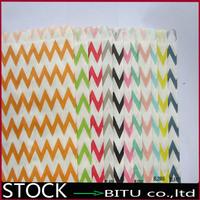 1000pcs/lot Colorful Chevron/Striped/Dots Favor Bags, Bitty bag, Party Food Paper Bag 17.5*12.5CM DD3225