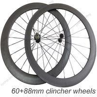 Super light wheel fit shimano 11S  60mm front 88mm rear clincher carbon  wheels 700c Carbon road  Racing wheelset