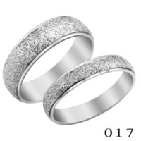 Brief sand titanium ring lovers ring finger ring jewelry male women's gift