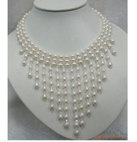 new brand Wedding bride luxury real pearl jewelry necklace NP287