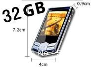 quality guarantee! 32GB  Black diamond Digital MP4 player 1.8inch FM ebook recorder video photo upgrade  20pcs/lot Free shipping