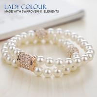 u0078 роскошный овальной формы опал установить цинка сплав 18 k розового золота покрытием с ювелирной моды кристалла swarovski элементы
