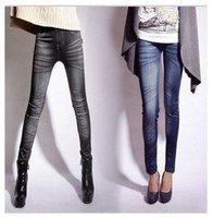 New Pencil Pants Leggings Stonewash Denim Skinny Stretchable faux Jeans