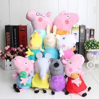 1 set  9pcs/set  New item 2014 Peppa Pig Family & Peppa Pig's Friends Plush gift Toys Doll