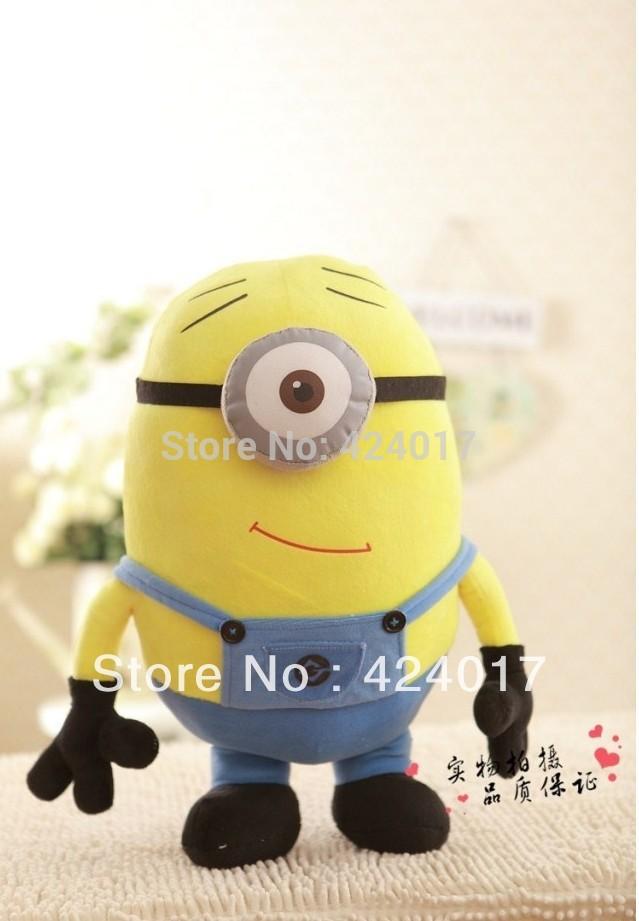 "13"" Despicable Me 2 Dave Minion Plush Doll 3D Eye Stuffed Animal Collectiable(China (Mainland))"