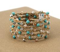Beautiful Unique Top Quality Wrap Bracelet Hot Sale Handmade Braided Bracelet Vintage Tibetan Beads with Turquoise Bracelet