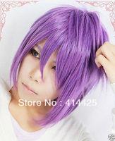 Murasakibara Atsushi Short Purple Straight Cosplay Wig