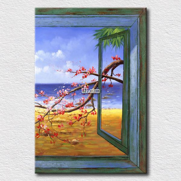 Online kopen wholesale pruim olie uit china pruim olie groothandel - Schilderij decoratie voor woonkamer ...