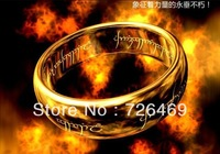 Free Shipping! The Lord of the Rings gold rings Spell Mystery Ring