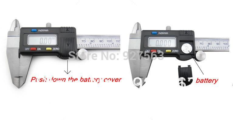 штангенциркуль цифровой дисплей 0-150 мм из