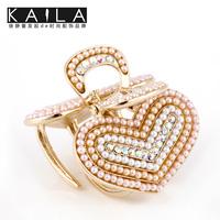 Kaila ccbt female diamond clip side-knotted clip pearl hair accessory hair accessory sweet