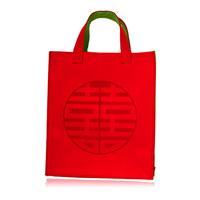 Kaila wool felt double happiness women's handbag large bag fashion vintage bag multifunctional bag belt