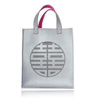 Gift kaila wool felt double happiness bag handbag