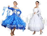 Ballroom Standard Smooth Rhythm Dance Costume Applique Dress DW067