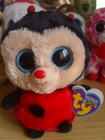 ty big eyes plush doll toy  ty beanie boos Ladybug