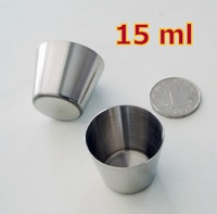 10 Pieces 15 ml Mini Cups Stainless Steel Water Cup Small Beer Whiskey Cup